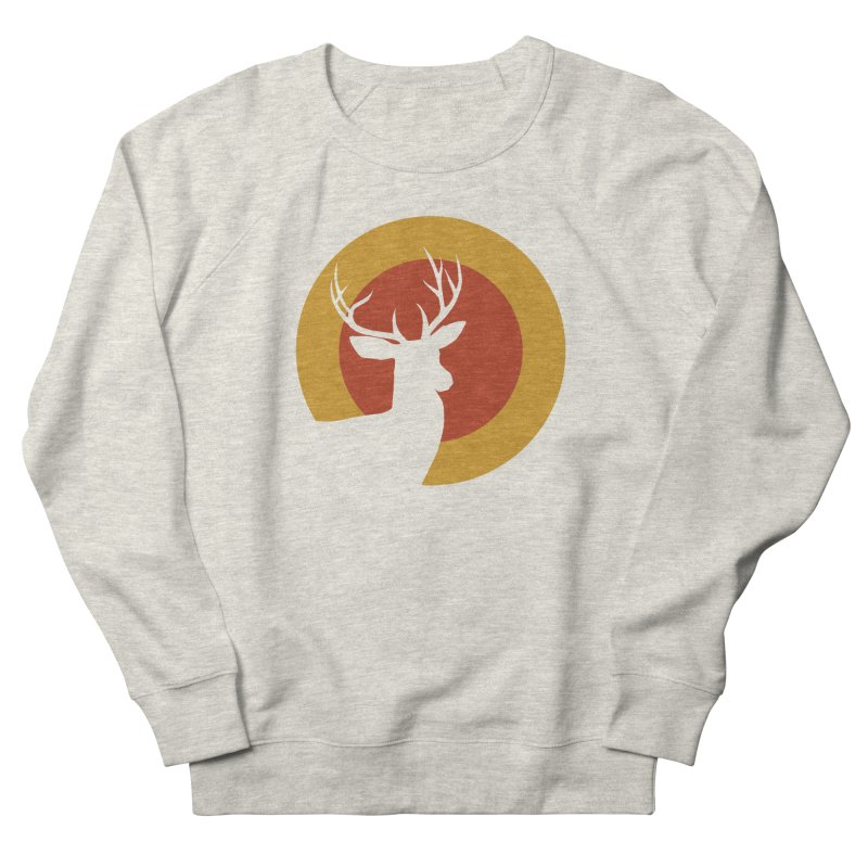 deer in sunny day Women's Sweatshirt by sustici's Artist Shop