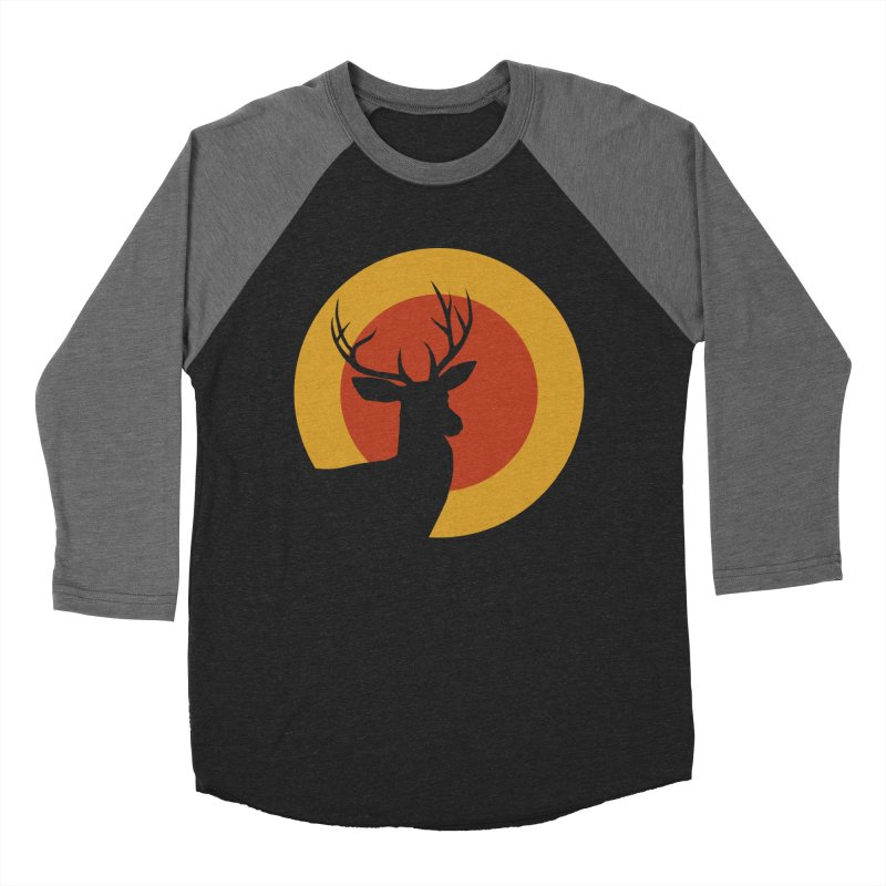 deer in sunny day Men's Baseball Triblend T-Shirt by sustici's Artist Shop