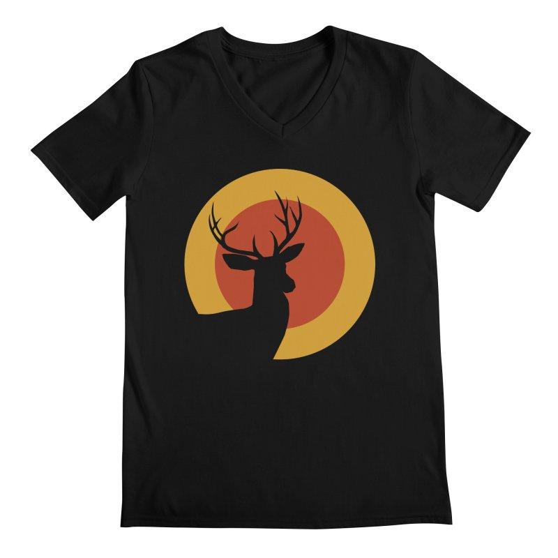 deer in sunny day Men's V-Neck by sustici's Artist Shop