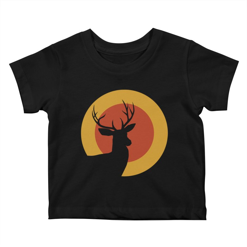 deer in sunny day Kids Baby T-Shirt by sustici's Artist Shop