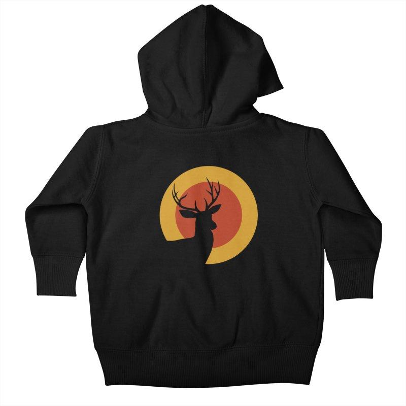 deer in sunny day Kids Baby Zip-Up Hoody by sustici's Artist Shop