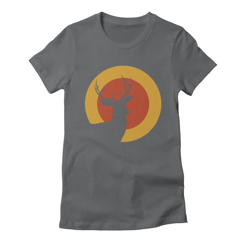 deer in sunny day Women's Fitted T-Shirt by sustici's Artist Shop