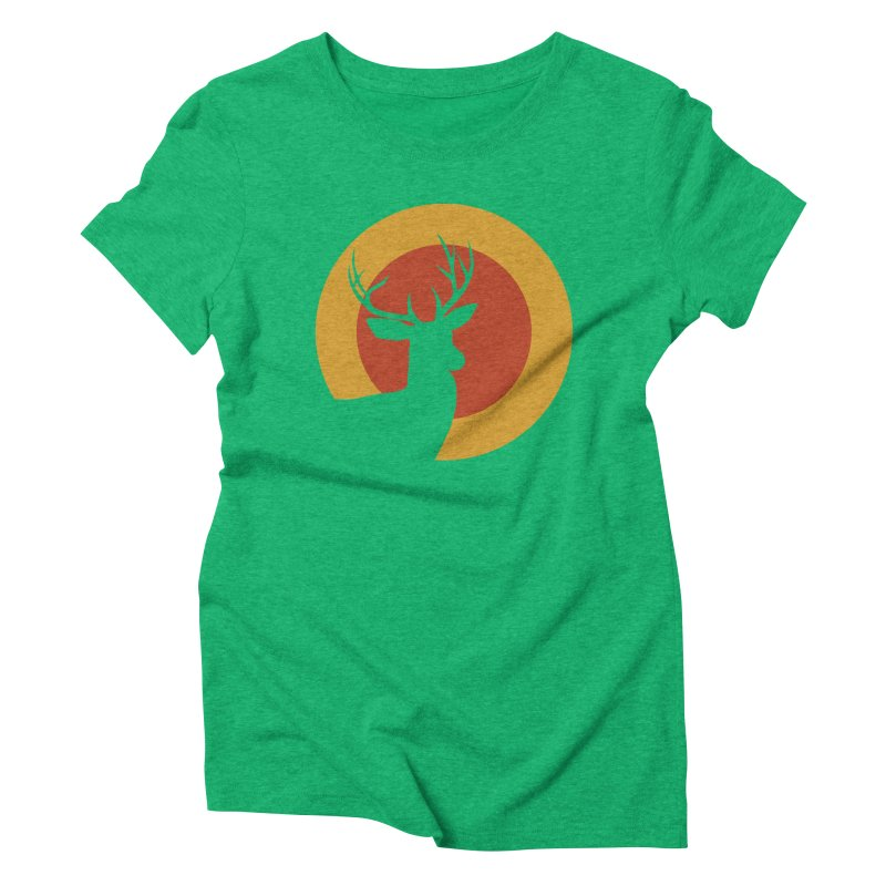 deer in sunny day Women's Triblend T-shirt by sustici's Artist Shop
