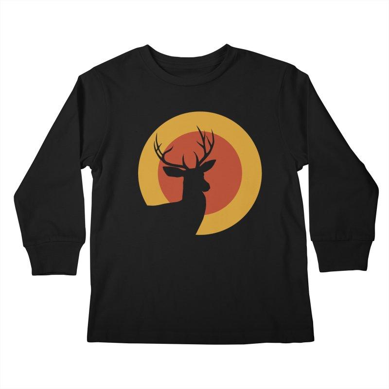 deer in sunny day Kids Longsleeve T-Shirt by sustici's Artist Shop