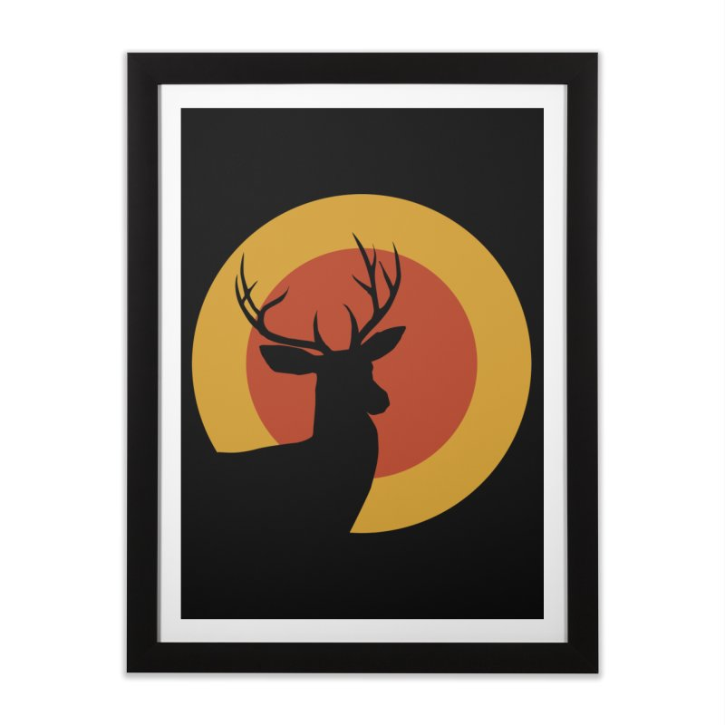 deer in sunny day Home Framed Fine Art Print by sustici's Artist Shop