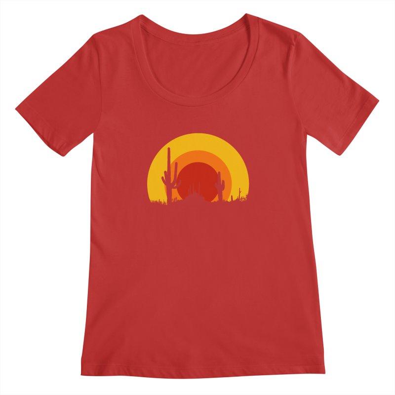 mucho calor Women's Scoopneck by sustici's Artist Shop