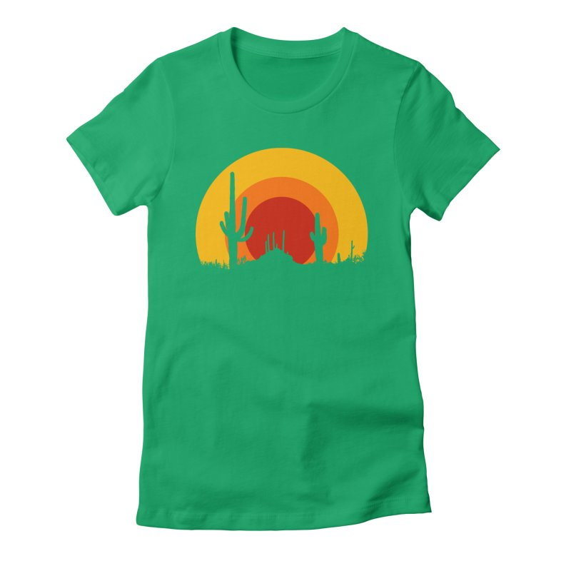 mucho calor Women's Fitted T-Shirt by sustici's Artist Shop