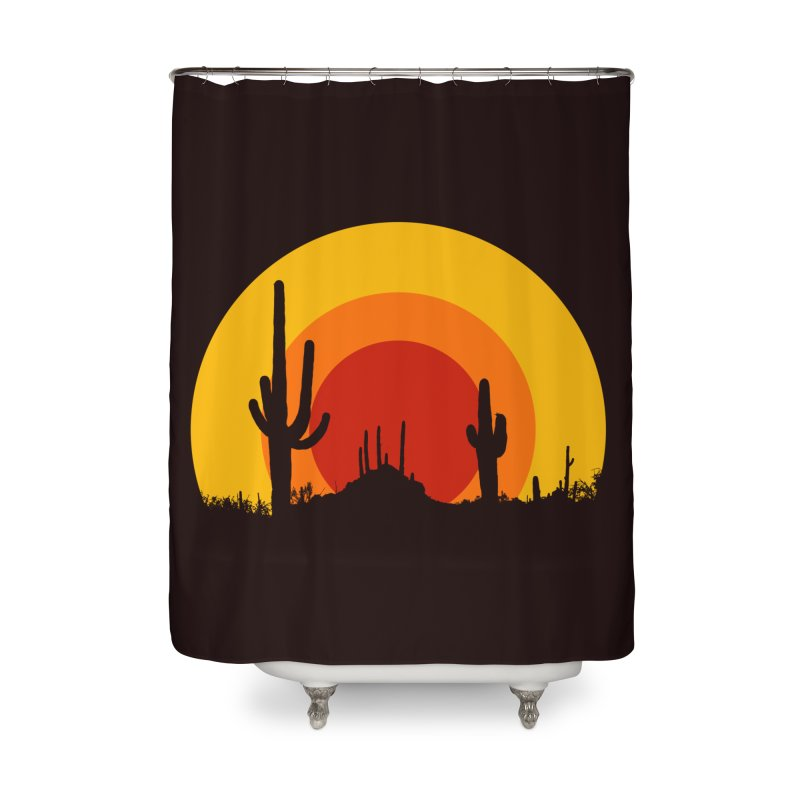 mucho calor Home Shower Curtain by sustici's Artist Shop