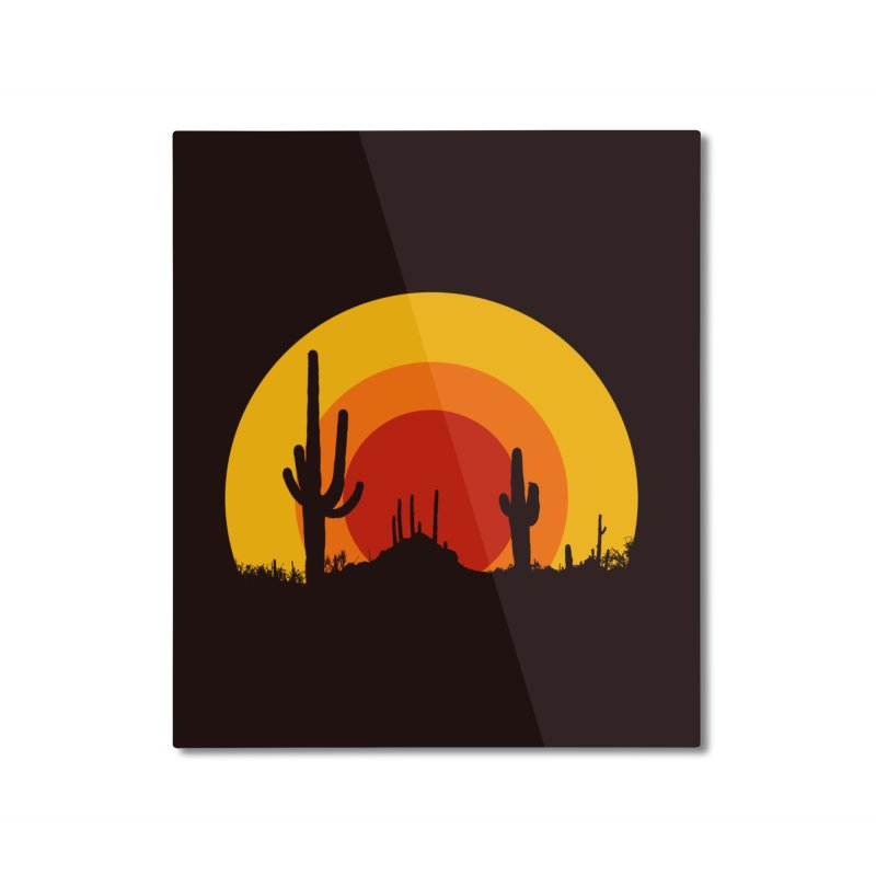 mucho calor Home Mounted Aluminum Print by sustici's Artist Shop