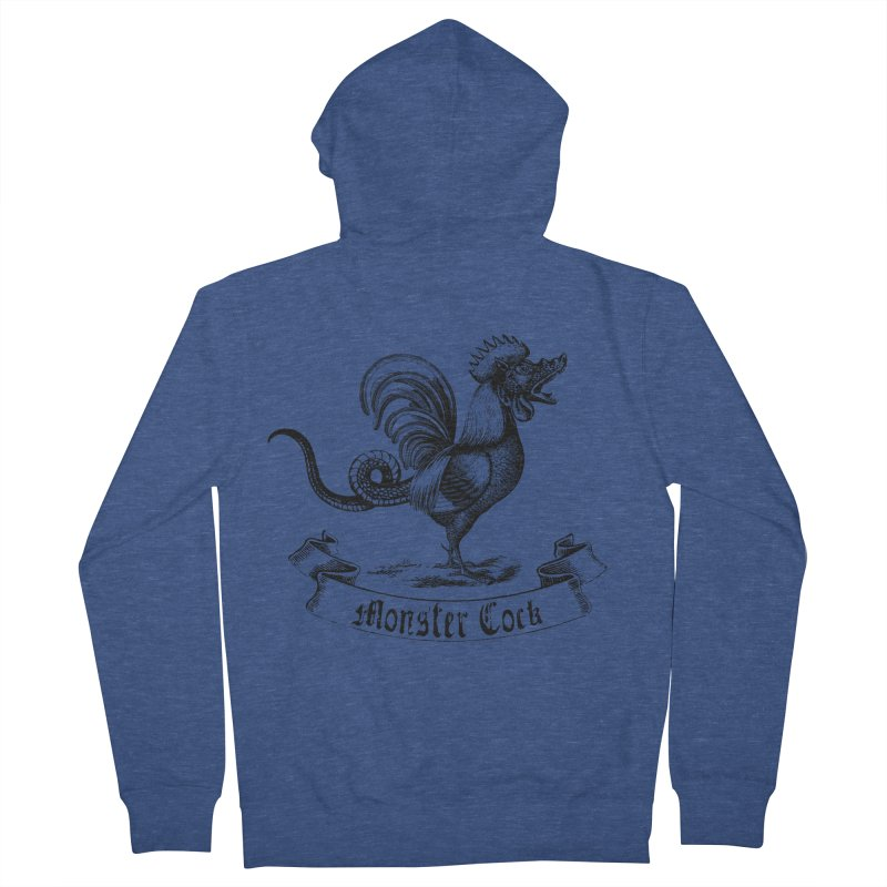 Monster Cock Women's French Terry Zip-Up Hoody by sustici's Artist Shop