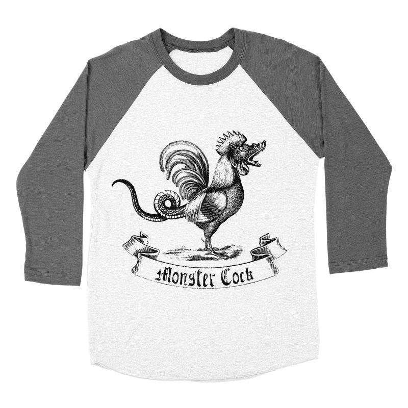 Monster Cock Men's Baseball Triblend Longsleeve T-Shirt by sustici's Artist Shop
