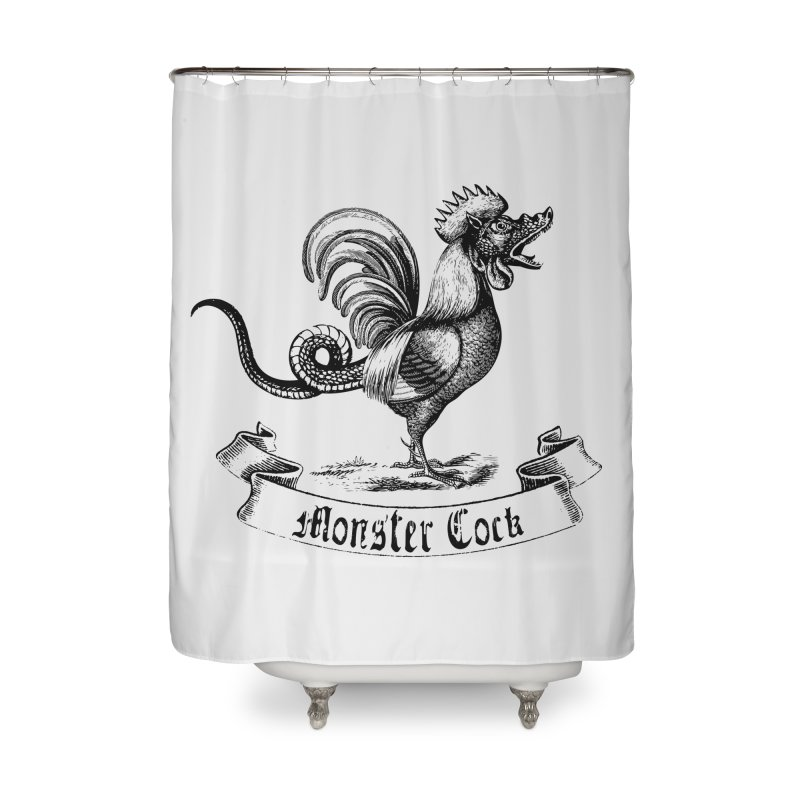 Monster Cock Home Shower Curtain by sustici's Artist Shop