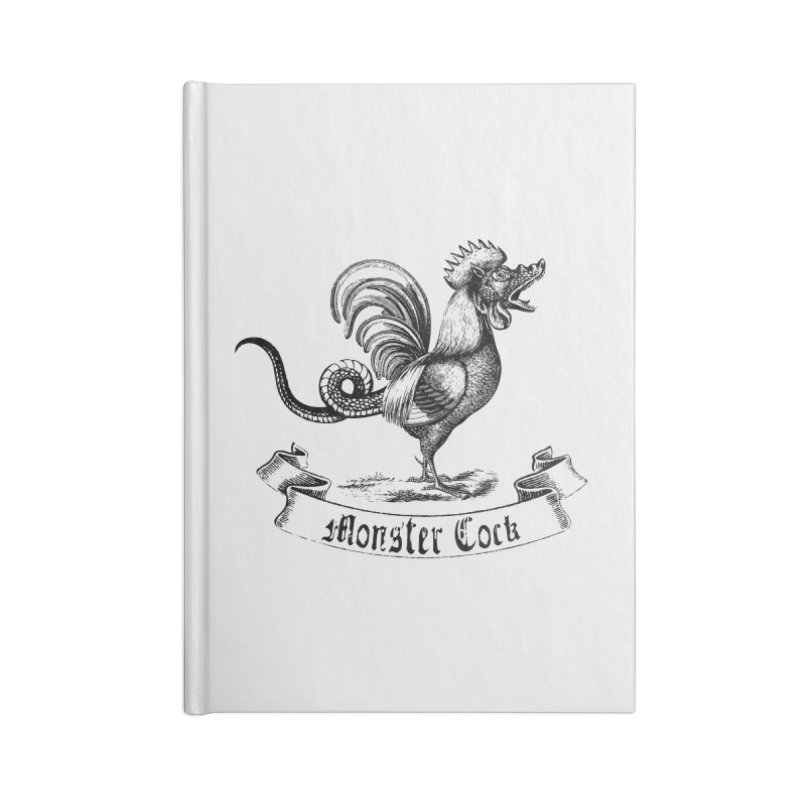 Monster Cock Accessories Lined Journal Notebook by sustici's Artist Shop