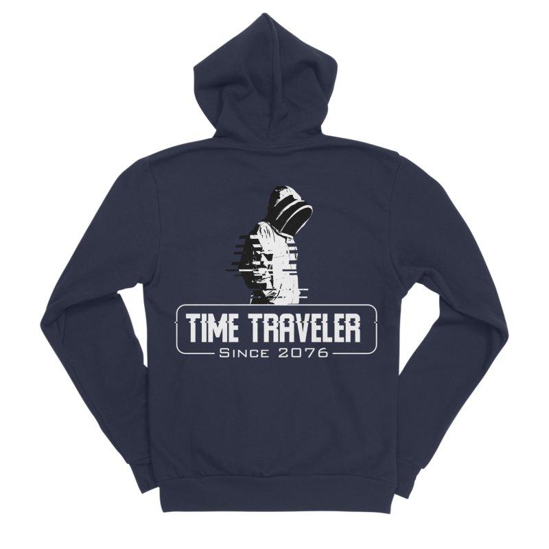 Time Traveler Men's Sponge Fleece Zip-Up Hoody by sustici's Artist Shop