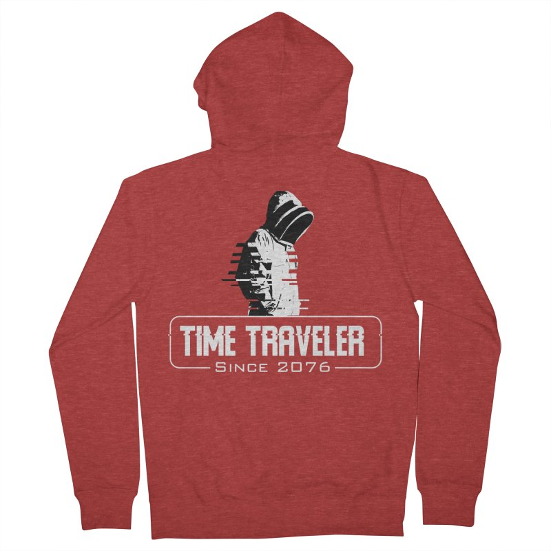 Time Traveler Men's French Terry Zip-Up Hoody by sustici's Artist Shop