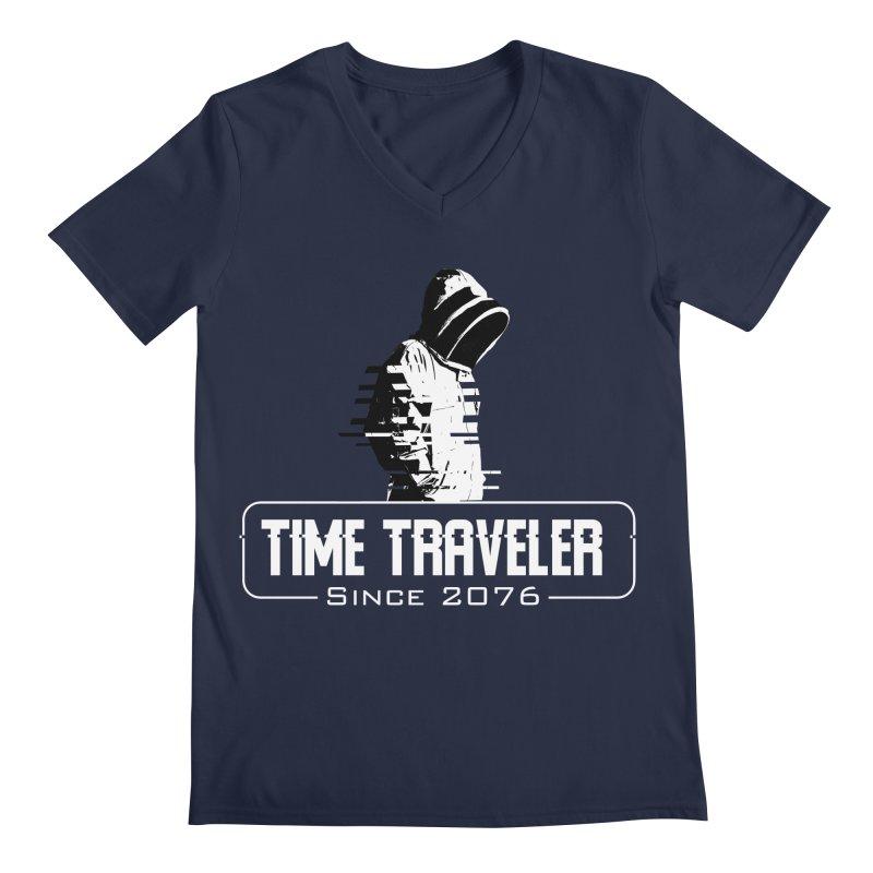 Time Traveler Men's Regular V-Neck by sustici's Artist Shop