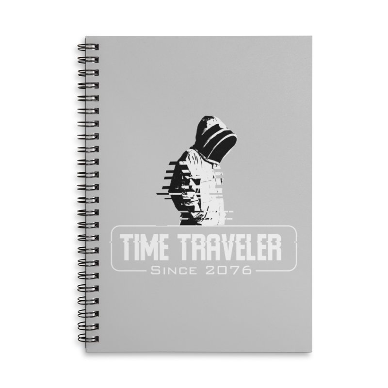 Time Traveler Accessories Lined Spiral Notebook by sustici's Artist Shop
