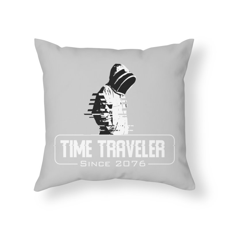 Time Traveler Home Throw Pillow by sustici's Artist Shop