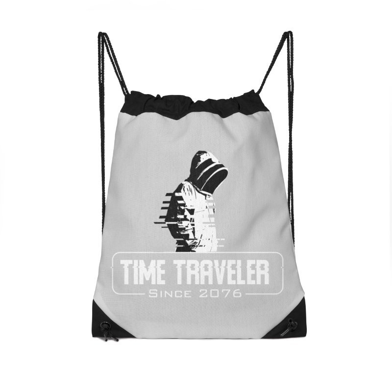 Time Traveler Accessories Drawstring Bag Bag by sustici's Artist Shop