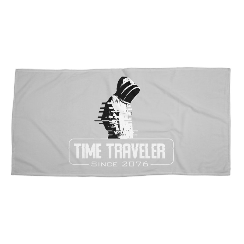 Time Traveler Accessories Beach Towel by sustici's Artist Shop