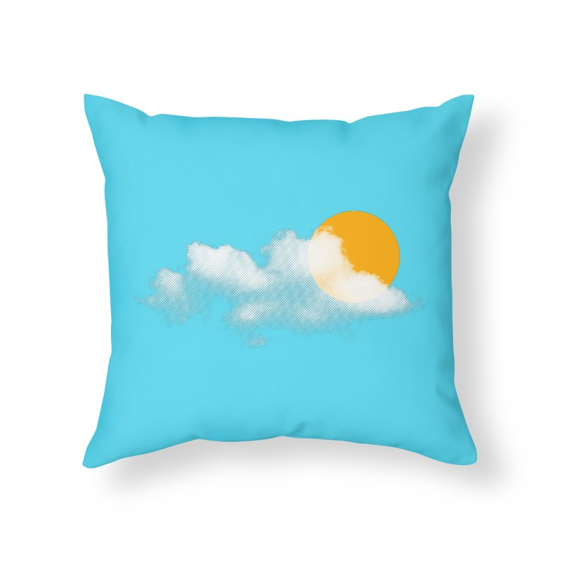 Sunny Home Throw Pillow by sustici's Artist Shop
