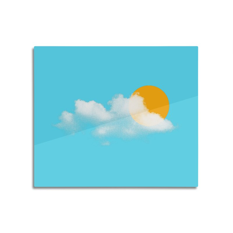 Sunny Home Mounted Aluminum Print by sustici's Artist Shop