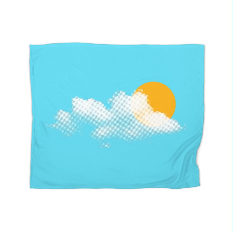 Sunny Home Fleece Blanket Blanket by sustici's Artist Shop