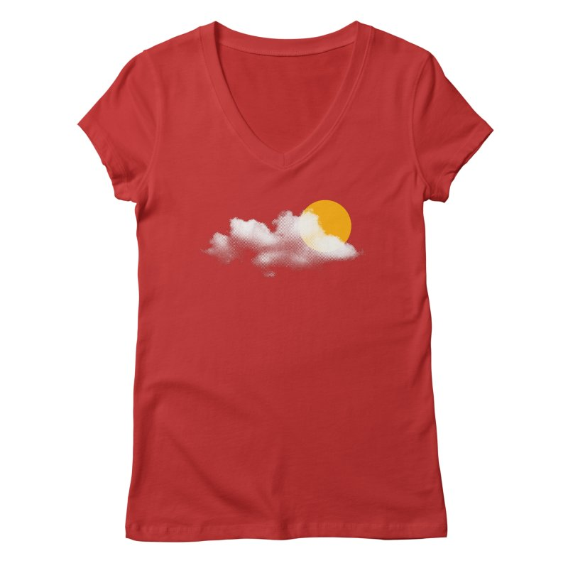 Sunny Women's Regular V-Neck by sustici's Artist Shop