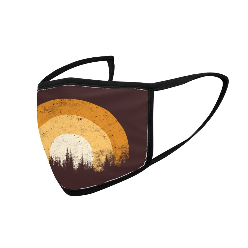 retro forest Accessories Face Mask by sustici's Artist Shop