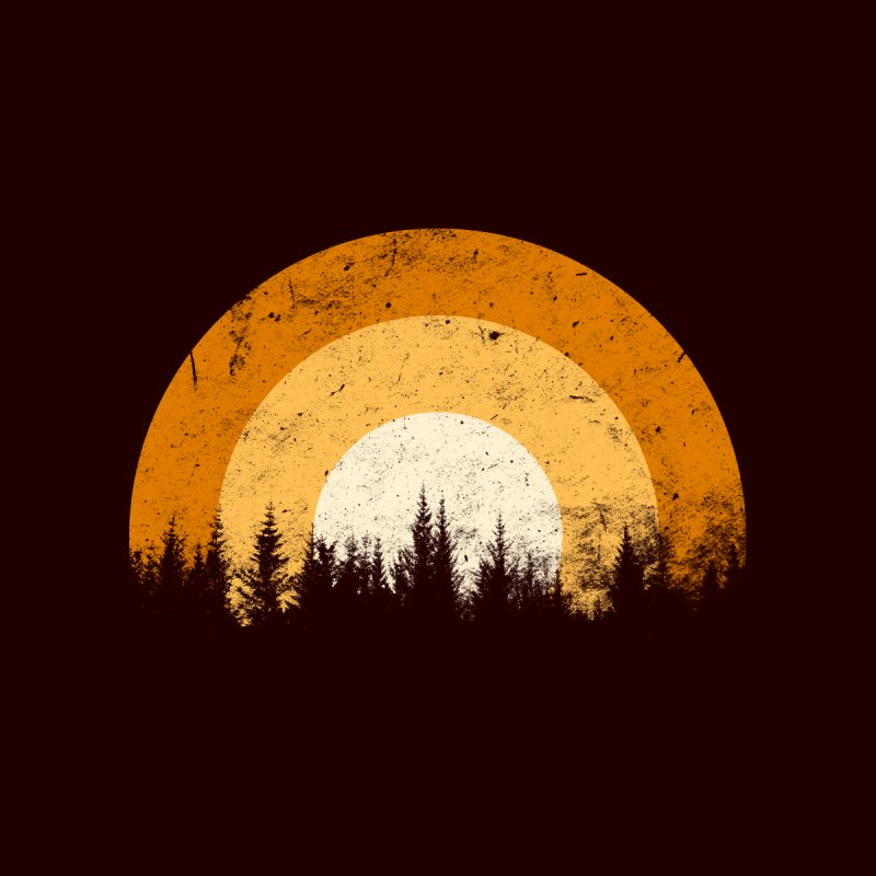 retro forest Kids T-Shirt by sustici's Artist Shop