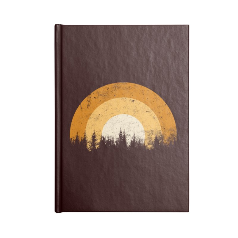 retro forest Accessories Notebook by sustici's Artist Shop