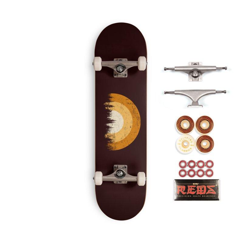 retro forest Accessories Skateboard by sustici's Artist Shop
