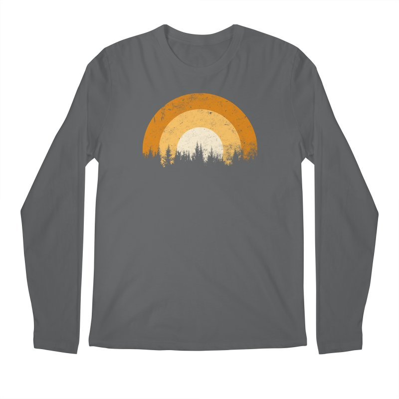 retro forest Men's Longsleeve T-Shirt by sustici's Artist Shop