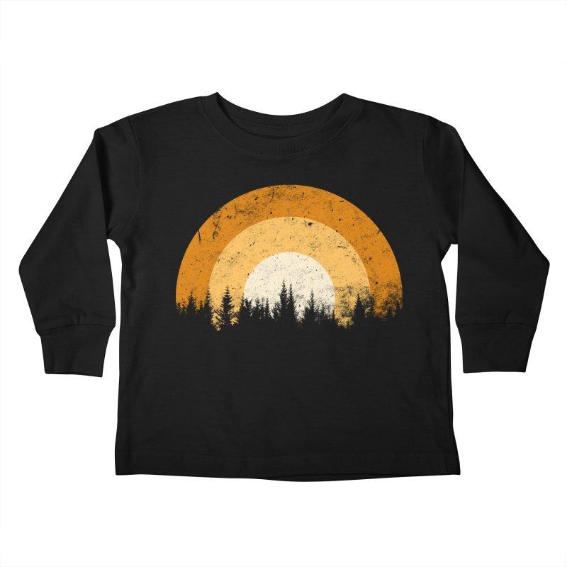 retro forest Kids Toddler Longsleeve T-Shirt by sustici's Artist Shop