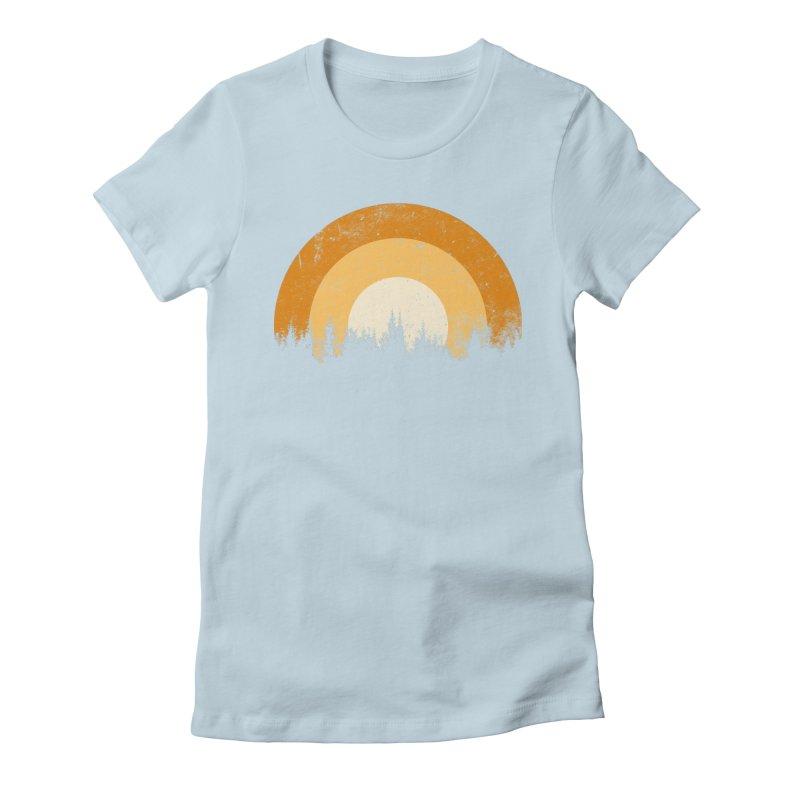 retro forest Women's T-Shirt by sustici's Artist Shop
