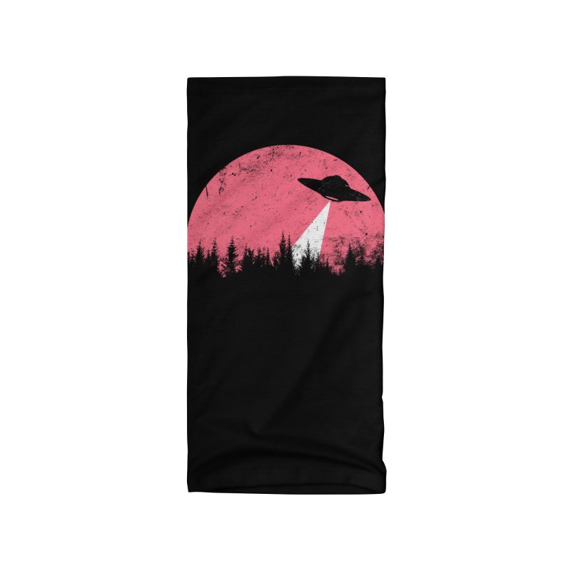 UFO in a pink night Accessories Neck Gaiter by sustici's Artist Shop