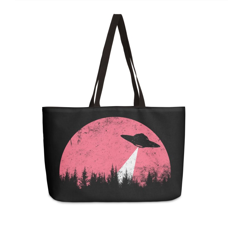 UFO in a pink night Accessories Bag by sustici's Artist Shop