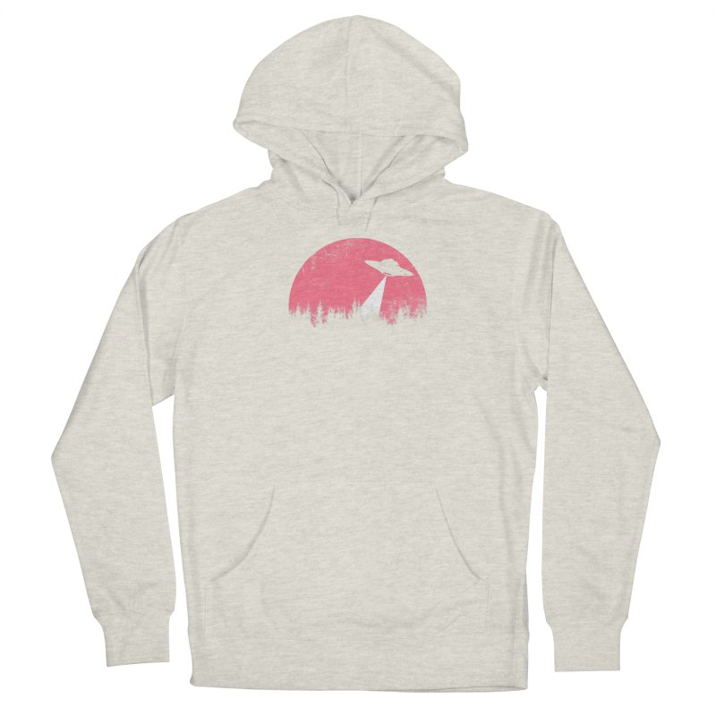 UFO in a pink night Men's Pullover Hoody by sustici's Artist Shop