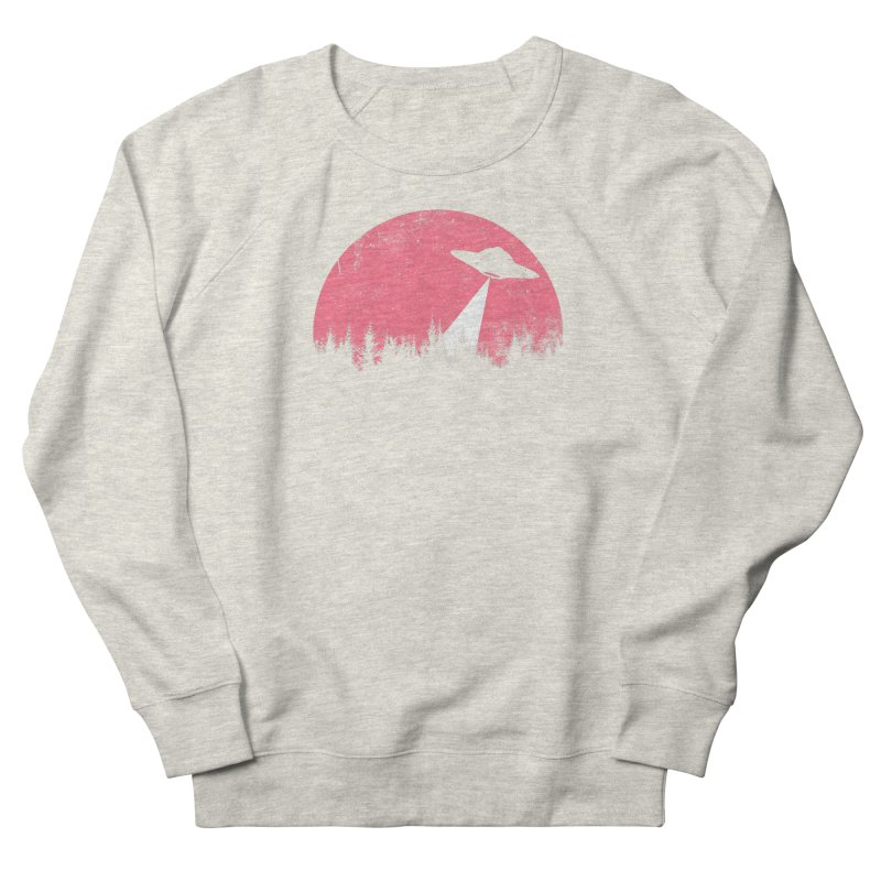 UFO in a pink night Women's Sweatshirt by sustici's Artist Shop