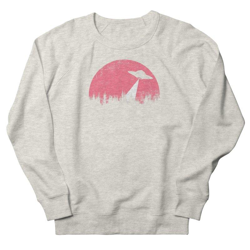 UFO in a pink night Men's Sweatshirt by sustici's Artist Shop