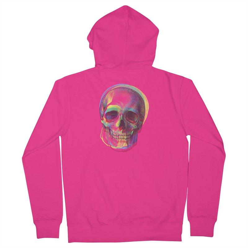 Acid Calavera Men's Zip-Up Hoody by sustici's Artist Shop