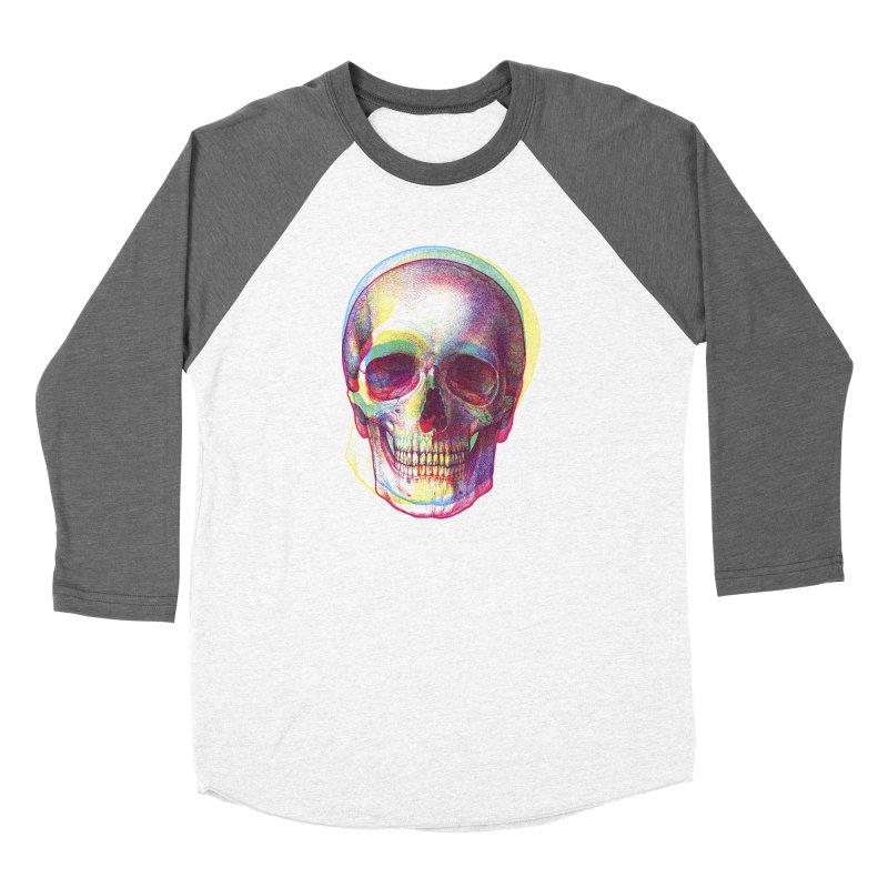 Acid Calavera Men's Baseball Triblend T-Shirt by sustici's Artist Shop