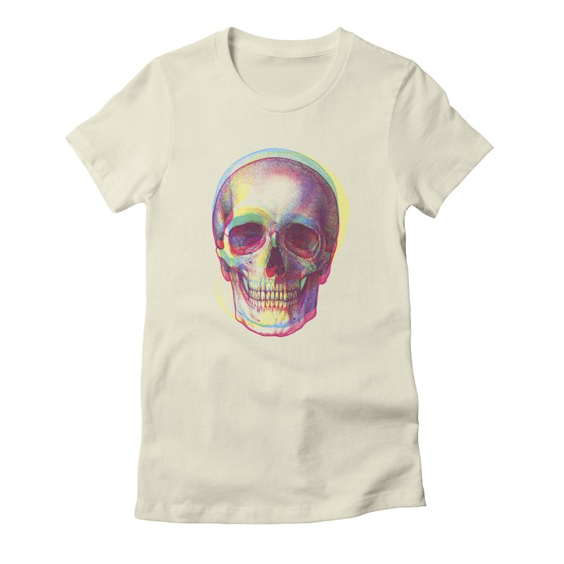 Acid Calavera Women's Fitted T-Shirt by sustici's Artist Shop