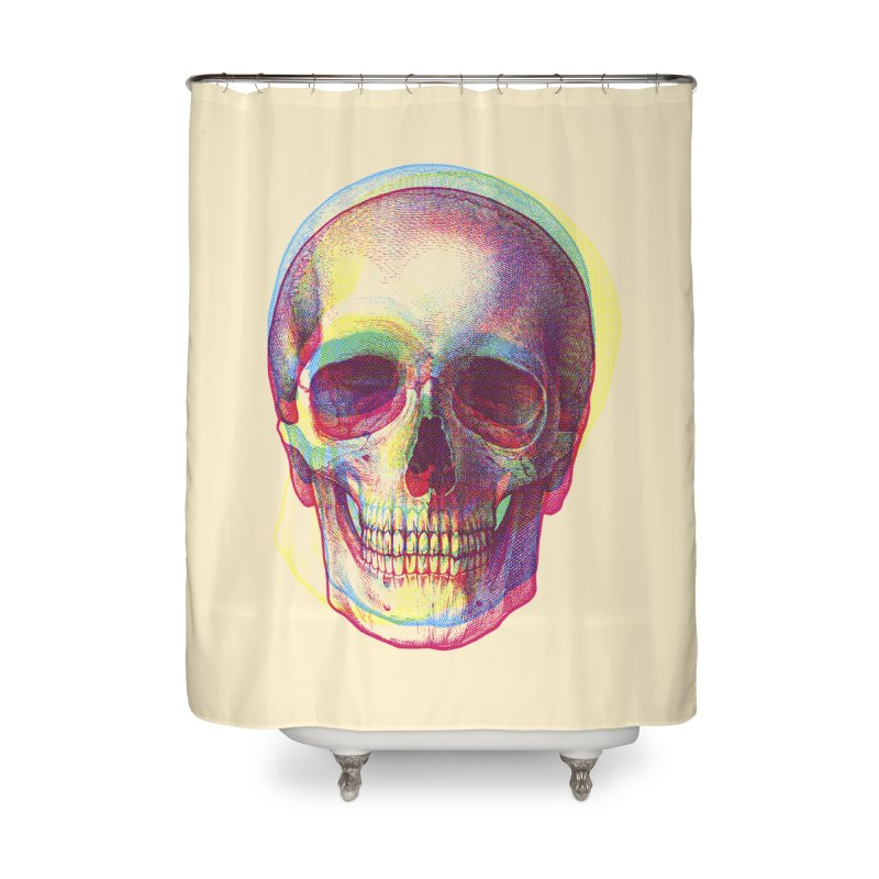 Acid Calavera Home Shower Curtain by sustici's Artist Shop
