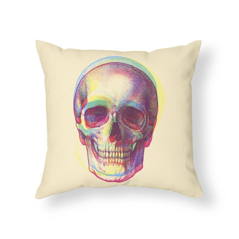 Acid Calavera Home Throw Pillow by sustici's Artist Shop