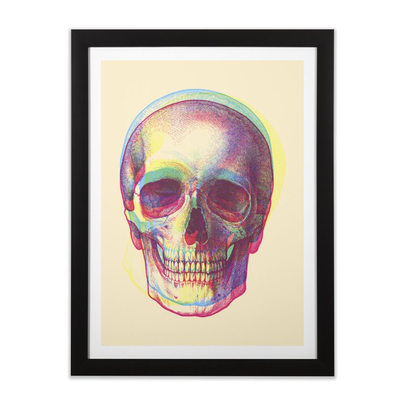 Acid Calavera Home Framed Fine Art Print by sustici's Artist Shop