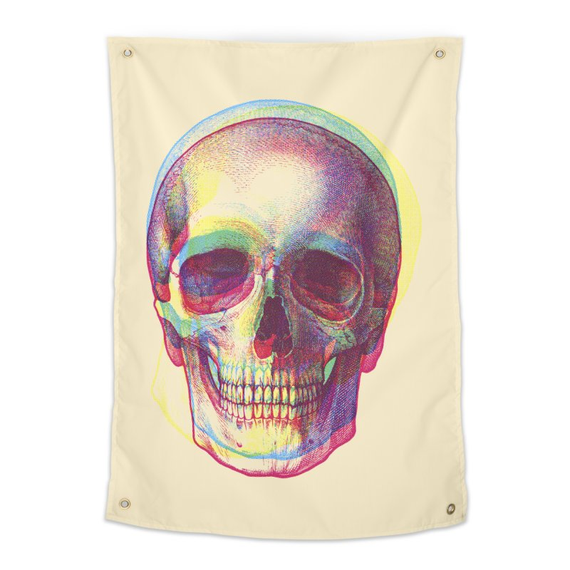 Acid Calavera Home Tapestry by sustici's Artist Shop