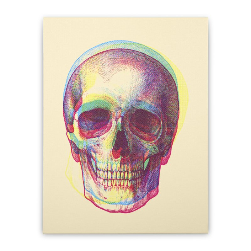 Acid Calavera Home Stretched Canvas by sustici's Artist Shop