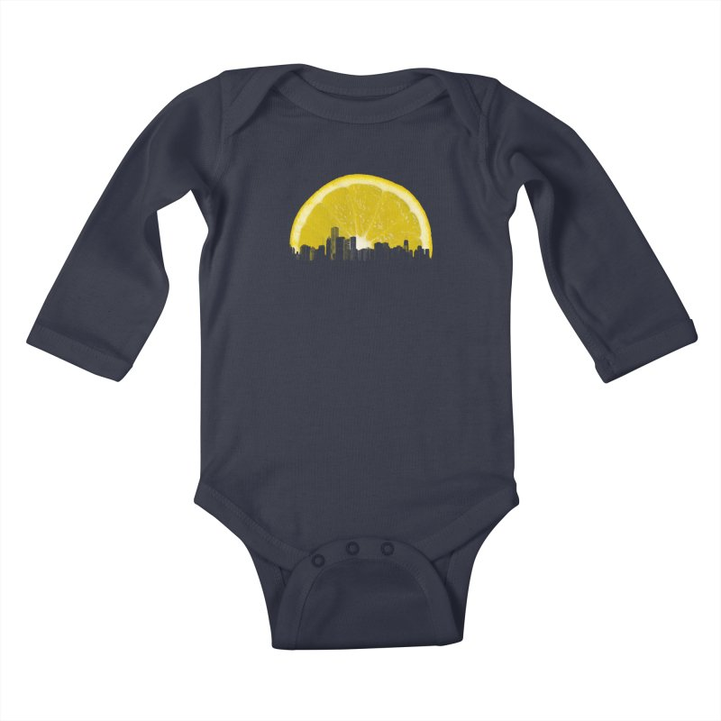 super lemon Kids Baby Longsleeve Bodysuit by sustici's Artist Shop