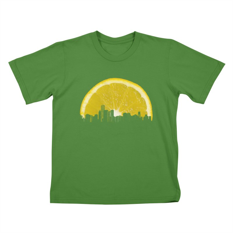 super lemon Kids T-shirt by sustici's Artist Shop